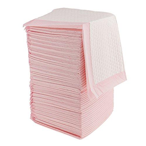 CUTICATE Inkontinenzunterlagen Krankenunterlagen Einwegunterlage Einmal Wickelunterlagen - Rosa, 50 Stück 45x33cm