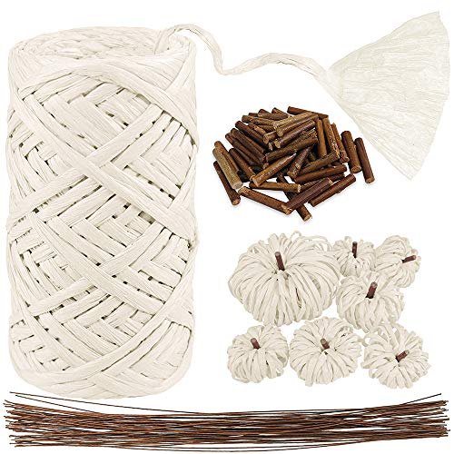 White Raffia Paper Ribbon Craft Ribbon Package Paper Twine
