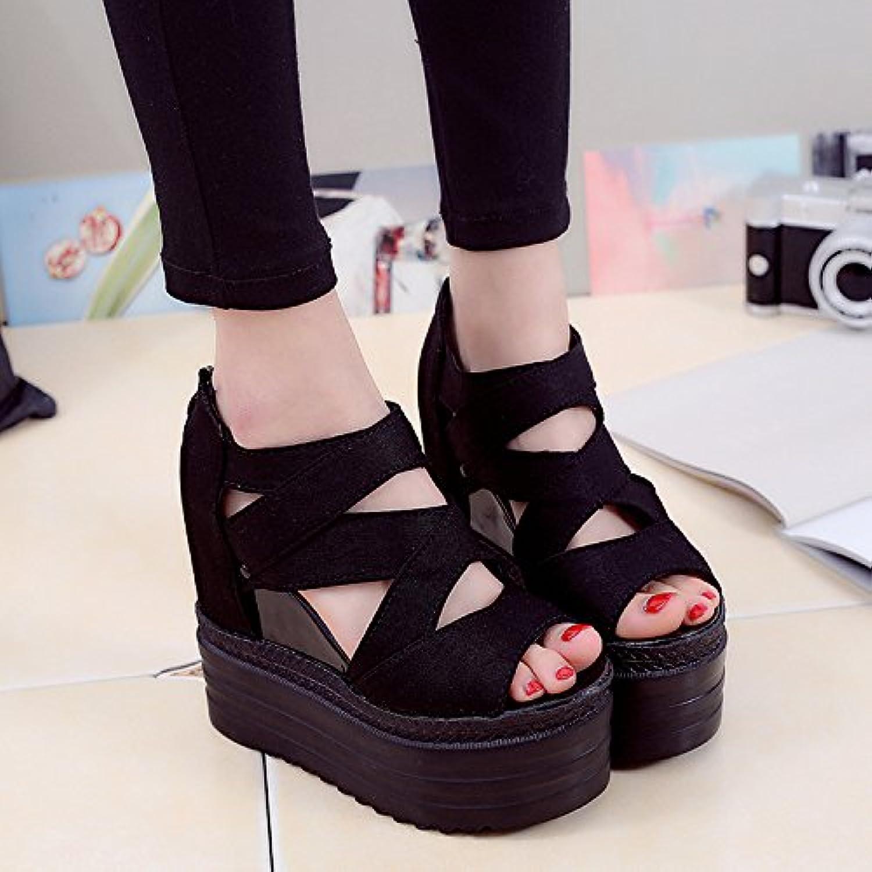 Aa-nvliangxie Frauen Sandalen Sommer atmungsaktiv Baotou Handgemachte Rutschfeste antiken Hhle Schuhe Eu 35 Cn 36 Reis Wei