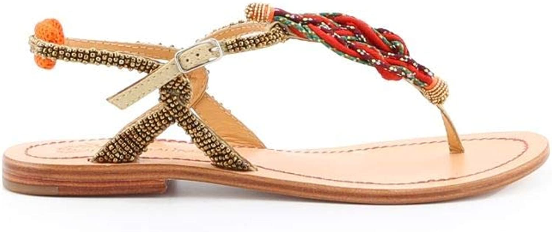 MALìPARMI Women's SA0421orange orange Leather Sandals