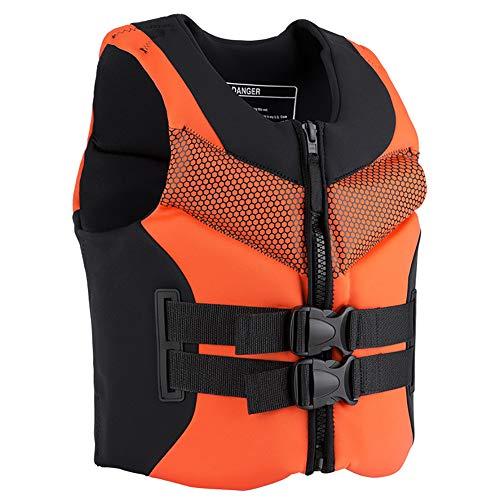 SXZSB Chalecos Salvavidas, Chaleco De Flotabilidad para Adultos, para Natación, Navegación, Pesca, Kayak, Chaleco Salvavidas, Chaleco Salvavidas,Naranja,XL