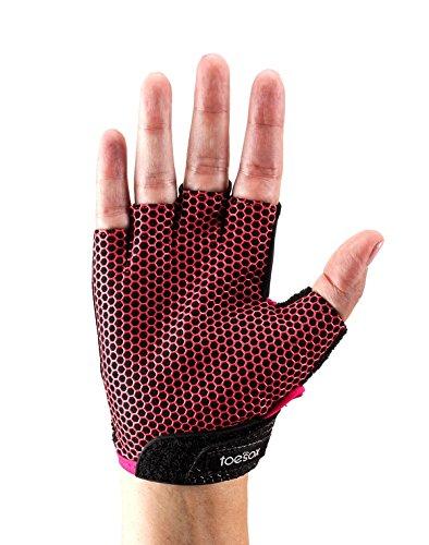 Tavi Noir ToeSox Glove Yoga & Pilates Grip Guante, Unisex Adulto, Fucsia, Large