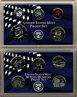 2001 S U.S. Mint 10 coin Clad Proof Set In OGP Proof
