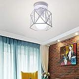 Estilo Nórdico Retro Lámpara de Techo Industrial Luz E27 Metal Decorativa Comedor Dormitorio Baño...