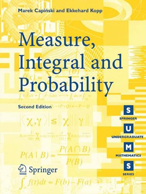 する必要があるラウズ軽減Measure, Integral and Probability (Springer Undergraduate Mathematics Series)