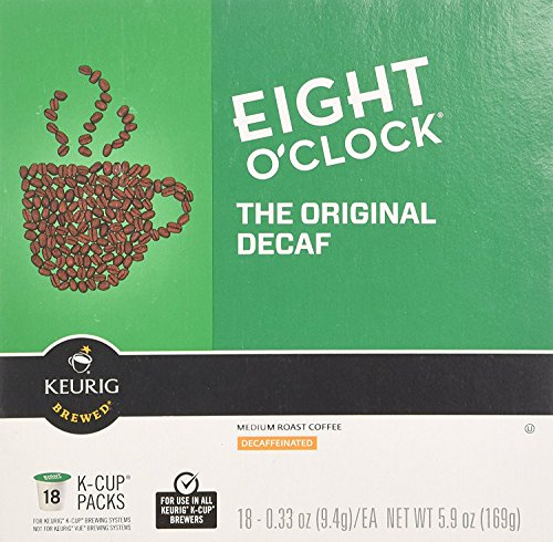 Eight OClock Coffee Original Decaf K-Cups - 48 Count (2 boxes of 24 K-Cups Each) - Packaging May Vary