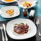 MALACASA, Serie Elisa, 48 TLG. Porzellan Tafelservice Kombiservice Geschirrset, 12 Dessertteller, 12 Suppenteller, 12 Flachteller und 12 MüsliSchäle für 12 Personen - 6