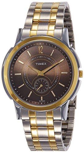 Timex Empera TW000U307 - Reloj analógico para hombre, esfera color marrón