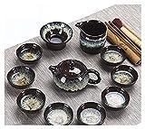 LBBZJM Servizio caffè Set da tè Set da tè Set Forno Golden Sabbia Smalto Ceramica Kung Fu Set tè Tazza di tè Tazza di tè Ceremony Art