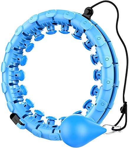 TUOYA Vestido Hula Hoops Tire Adultos, Smart Hoola Hoop Fitness con Nodo de Masaje, para Principiantes Adultos con Gimnasio para Perder Peso, Fitness, Masaje (Color : Blau)