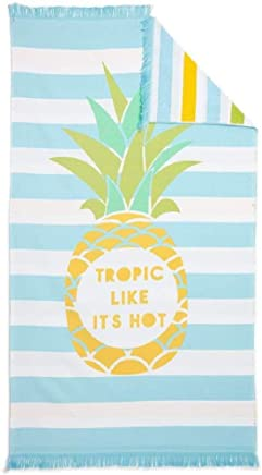 Noble Excellence Pineapple Reversible Fouta Beach - Pool Towel 40