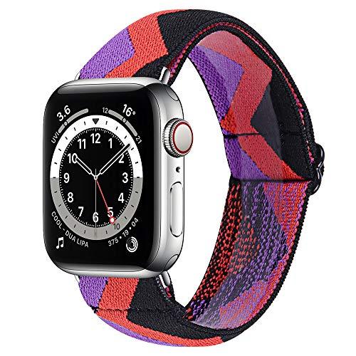 Ztowoto Cinturino per orologio moda in nylon elastico regolabile compatibile con Apple Watch 38mm 40mm 42mm 44mm (iWatch SE e serie 6 5 4 3 2 1), braccialetti iWatch per donne e ragazze (38mm 40mm, 8)