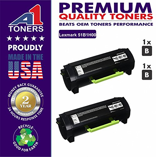 A1 Compatible Laser Toner Cartridge Lexmark 51B1H00, 2Black Lexmark 51B1H00. Suitable with-Lexmark MS417dn MX417de MS517dn MX517de MS617dn MX617de