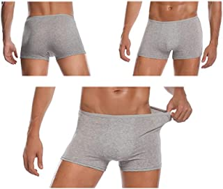 Mens Disposable 100% Cotton Underwear Travel Boxers Briefs Portable Shorts White/Grey 5PK
