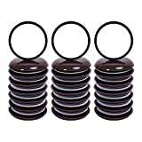 Ezprotekt Round Brown 24 Value Pack Self-Stick Furniture Sliders 1-3/4' Furniture Moving Pads Heavy Duty Adhesive Furniture Movers for Carpet