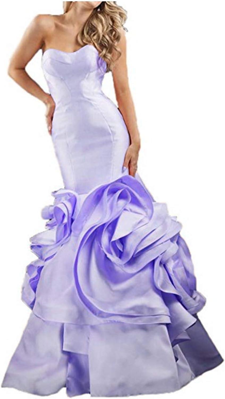 FWVR Women's Sweetheart Ruffles Mermaid Formal Long Evening Prom Dresses