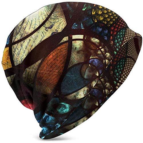 Giles John Unisexe Bonnet Casquettes Psychédélique Oriental Motif Ethnique Yeux Slouchy Manchette Crâne Tricot Chapeau Chapeau Été Chaud Ski Chapeaux Snapback Noir