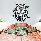 Pluma etiqueta de la pared tribal arte de la pared decorativo sala de estar dormitorio dormitorio cazador de plumas arte de la pared mural A8 58x57cm