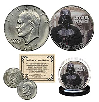 Darth Vader - Star Wars Officially Licensed 1977 Eisenhower IKE Dollar U.S Coin