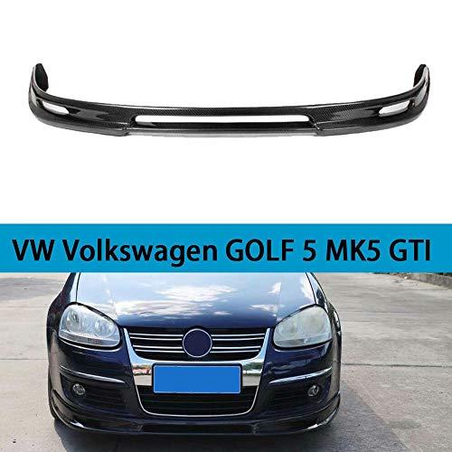 QCQCHUN Geeignet für VW Volkswagen Golf 5 MK5 GTI Auto Frontspoiler schwarz Kohlefaser CF vorne Kinn Stoßstange Spoiler Verlängerungslippe Diffusor