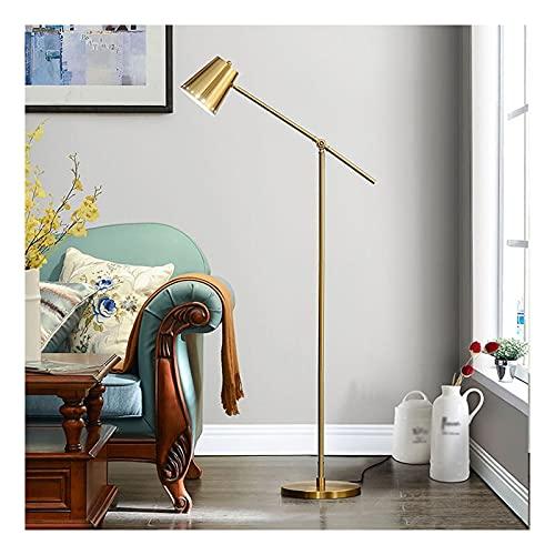 Indoor Moderne vloerlamp staande lamp metalen verstelbare swing arm leeslamp en home decor voor woonkamer huis slaapkamer kantoor Home(Remote dimming, A)