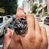 JOY Jewelry Cool Mens 316L Stainless Steel Ring Punk Chimera Biker Ring Animal Jewelry Gifts (11)