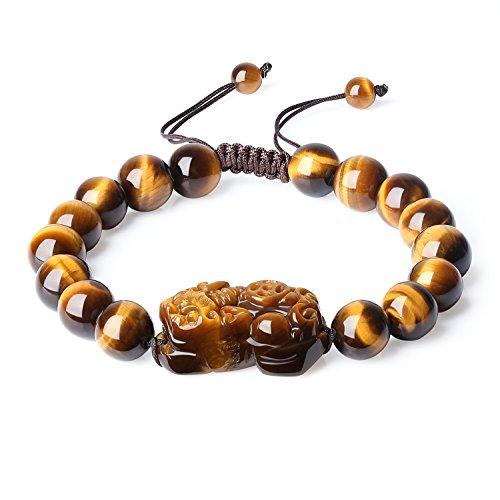 coai Pixiu Pi Yao Tiger Eye Stone Fengshui Bracelet for Men 10mm