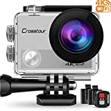 Crosstour Action Cam 4K Wifi 16MP Camera Ultra HD 30M Unterwasserkamera 170Ultra-Weitwinkel mit 2...
