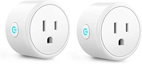 Mini Smart Plugs - Aoycocr WiFi Outlet Compatible with Alexa, Google Home Assistant, Remote Control with Timer Function Sw...