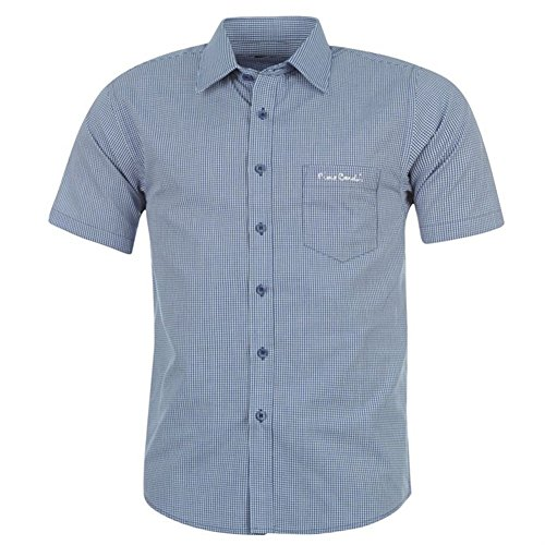 Pierre Cardin - Camisa casual - para hombre Navy/White Gingham extra-large