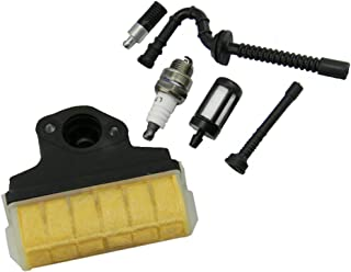 HIPA Air Filter + Spark Plug + Fuel/Oil Line Filter for STIHL 021 023 025 MS210 MS230 MS250 Chainsaw