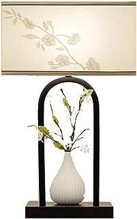 WYBFZTT-188 Lampe de Table, Lampe de Chevet Chambre Moderne Minimaliste Rétro décoratif Lampe de Table, Tissu, Fer forgé