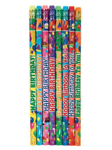 Raymond Geddes Birthday Assorted Pencils (Pack of 144)