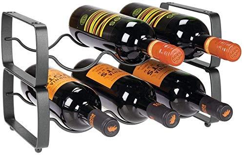 GLYYR Botelleros Metal Steel Free Standing 6 Botella Modular Modular MODIFICADOR DE Almacenamiento para LA Contador DE LA Cocina, Tapa Tapa, Pantalla, FRIGHING - Soporte para Vino, Cerveza, Pop/Soda