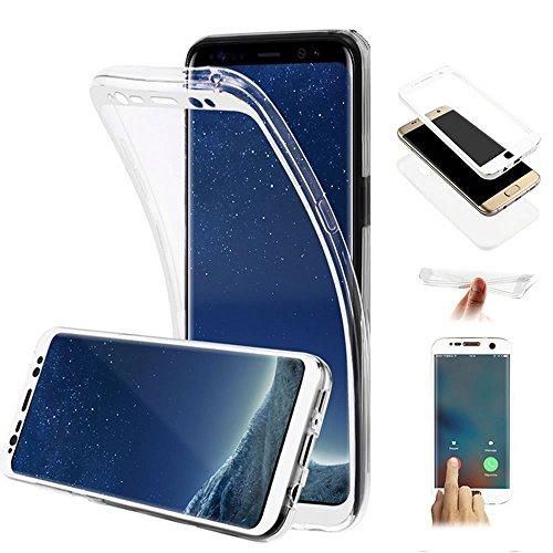 EUWLY 360 Grad Handyhülle für [Samsung Galaxy J1 2016],Samsung Galaxy J1 2016 Transparent Durchsichtig TPU Rundum Schutzhülle, Silikon Crystal Clear Ultra Dünn Weichem Schutzhülle 360 Grad Fullbody
