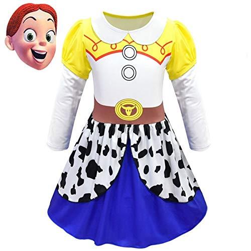 BCOGGFilm Toy Story 4 Jessie - Vestido de disfraz, disfraz de Toy Story, traje de disfraz, disfraz de Halloween, disfraz para niña, fiesta de disfraces, S 7