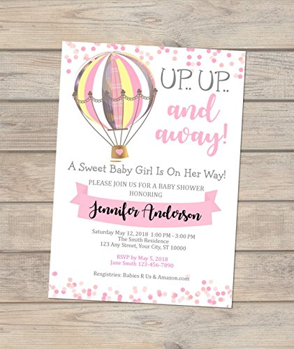 Pink Hot Air Balloon Baby Invitations V Girl Shower Special price Baltimore Mall