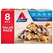 Atkins Snack Bar, Caramel Chocolate Nut Roll, Keto Friendly, 1.55 oz, 8 count