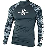 Scubapro men's rash guard 6 stylish skin protection increases comfort during warm water dives and surface fun. Up 50 rating blocks 98% of uv radiation. High quality polyester offers nice hand feel and provides good color fastness – especially in the lighter colors.