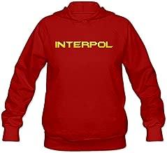 Interpol Yellow Logo Joke 100% Cotton Long Sleeve Sweatshirt For Womens