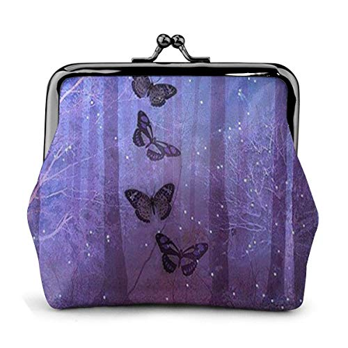 DAWN & ROSE portemonnee mooie Spiderweb bedrukking vrouwenzakje -lock muntzakje Wallets