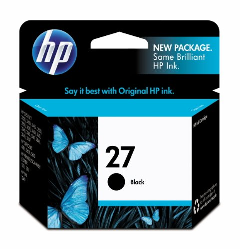HP 27 Original Single Ink Cartridge - Black (C8727AN_140)