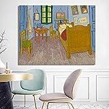 Lienzos de fotos 60x60cm Carteles e impresiones Dormitorio de Vincent en Arles Cuadros decorativos p...