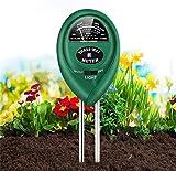 Soil Test Kit, Soil Tester for Moisture, Light & pH Meter for Plant, Vegetables, Garden, Lawn, Farm, Indoor/Outdoor Plant Care Soil Tester