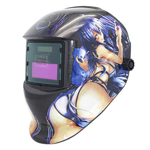 自動遮光溶接面 ATF Solar Powered Welding Helmet Auto Darkening Hood with Fixed Shade DIN3/11, Professional Welder Mask for ARC TIG MIG,