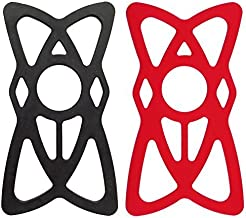 NALAKUVARA 4-Pack Silicone Security Bands for Cell Phone Mount, Universal Mountain & Road Handlebar Cradle Holder Tether, Bicycle Phones Holder Support, Only 4Pcs Bands (2 Black & 2 Red)