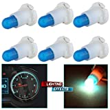 cciyu 6 Pack Ice Blue T4/T4.2 Neo Wedge Halogen Bulb Replacement fit for Dash A/C Climate Control Instrument Cluster Panel Dashboard Gauges Light