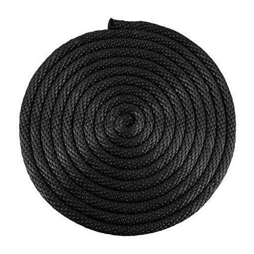 Sgt. Knoten Massiv Braid Nylon Seil 1/20,3cm 5/81,3cm 3/40,6cm 1/10,2cm 5/40,6cm 3/20,3cm (verschiedene Längen), schwarz