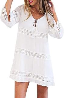 online retailer 71edc d3381 Suchergebnis auf Amazon.de für: weiße Tunika, Kleid mit Spitze