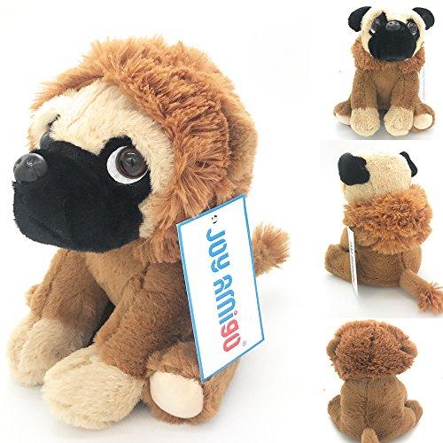 JoyAmigo Pug Stuffed Animal Dog Puppy Soft Cuddly Toy in Lion Costumes Super Cute Lion Teddy Plush 10 Inch